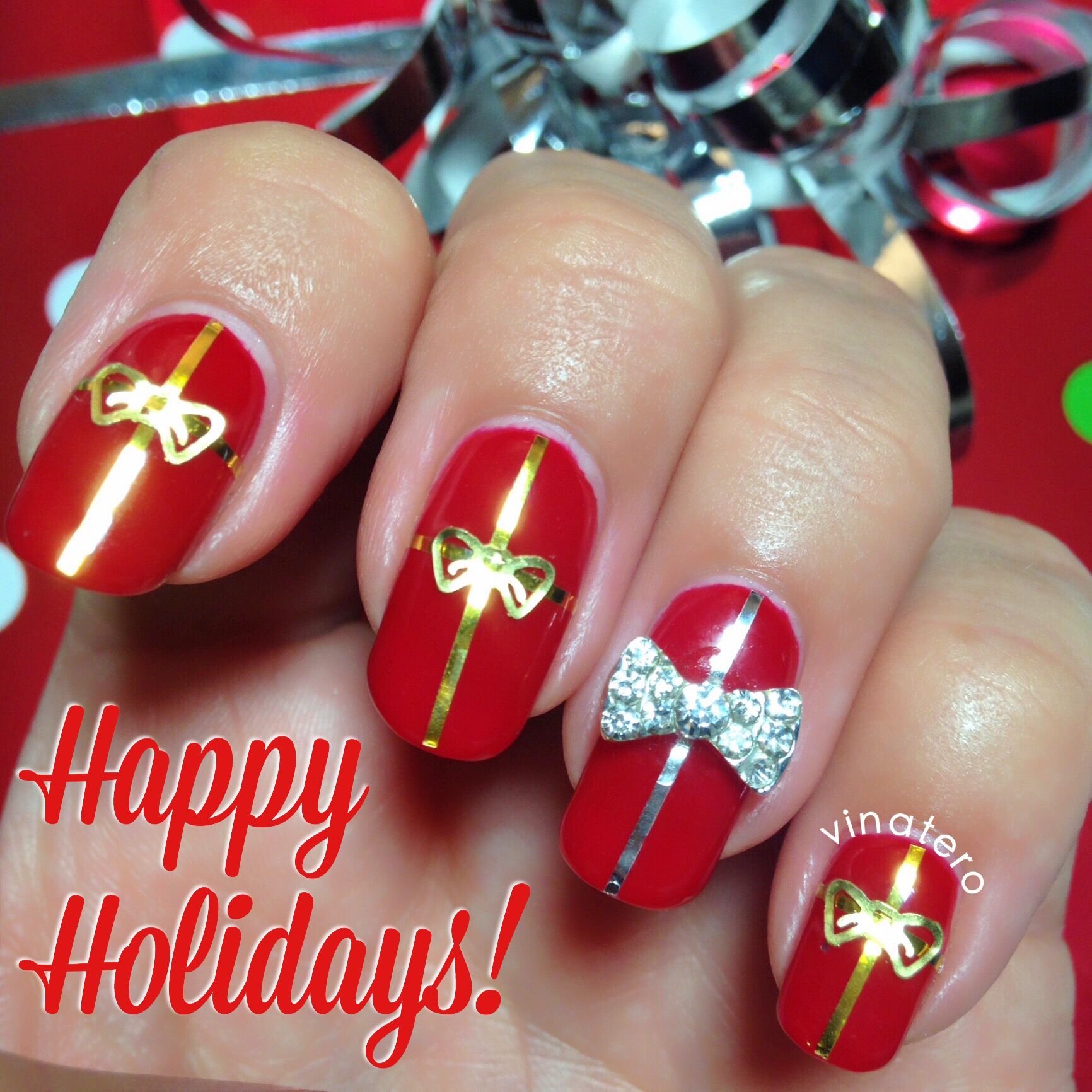 Christmas Presents Nail Art! | Vinatero Nail Art | Pinterest ...