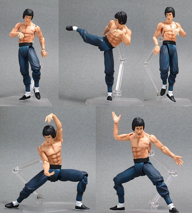 Max Factory Bruce Lee Figma 266 PVC Action Figure Collectible Model Toy 14cm(China (