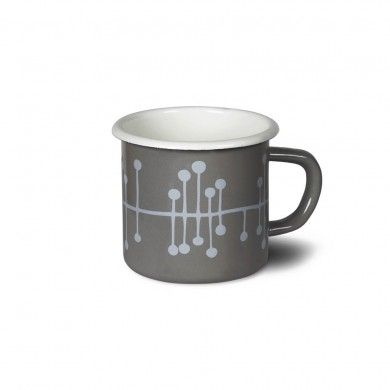 Garden Trading emaille mug in gray via shopgartenzauber.com
