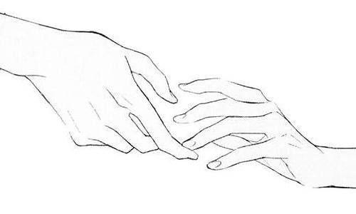 Manga Image Line Art Drawings Hand Reference Hand Drawing Reference