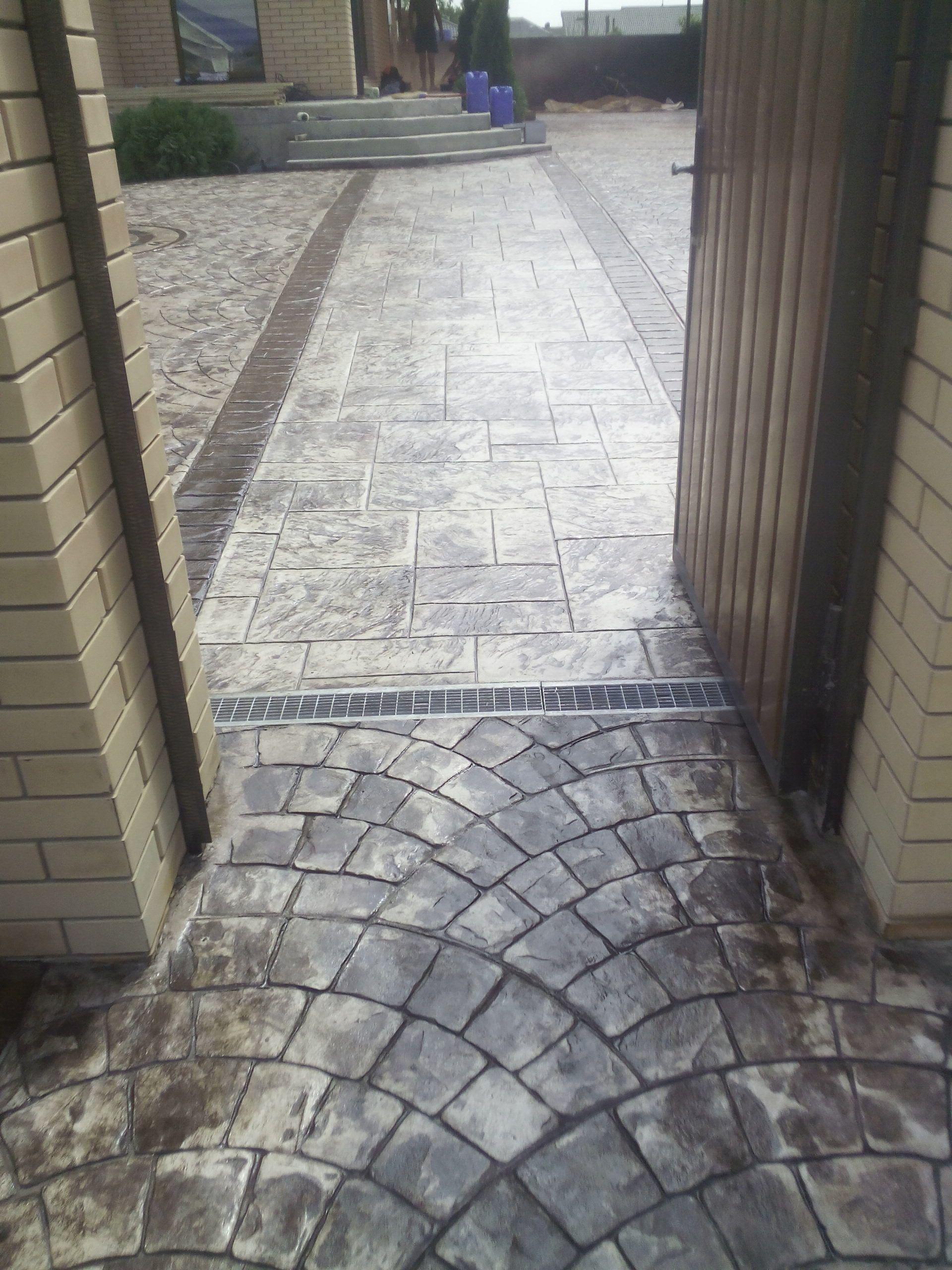 печатный бетон фото