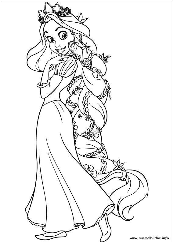 Rapunzel Malseite Rapunzel Malvorlagen Coloring Pages Ausmalbilder Disney Vorlagen Halaman Mewarnai Buku Mewarnai Rapunzel