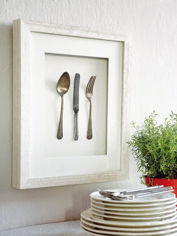 Cuadros originales cuadro marcos y cubiertos for Cuadros cocina decoracion