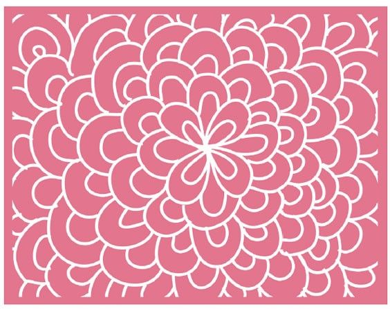 Bloom embossing folder by Lifestyle Crafts. 2 A2 sized folders for $9.99!