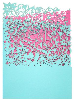 Wedding Invitation Turquoise And Fuschia My Two Favourite