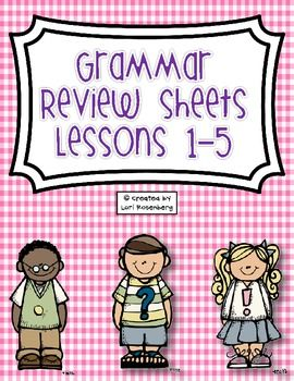 grammar review sheets lessons 1 5 cam teaching grammar grammar review y grammar skills. Black Bedroom Furniture Sets. Home Design Ideas