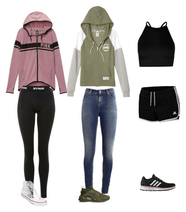 """Untitled #84"" by gwboobear on Polyvore featuring Victoria's Secret, Supra, Topshop, adidas, Boohoo, NIKE and Converse"