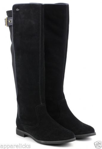 0ff8dc718 Lacoste-Womens-Rosemont-Buckle-Suede-Long-Formal-Over-Knee-Fashion-Boots -Shoes