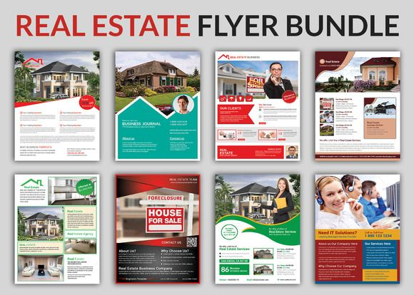 Real Estate Flyer Bundle Templates | Real Estate Flyers And Flyer