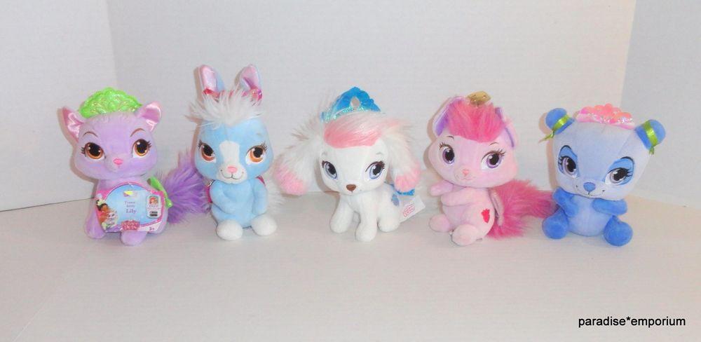 Disney Princess Palace Pets Plush Set Lot 6 Lily Blossom Berry