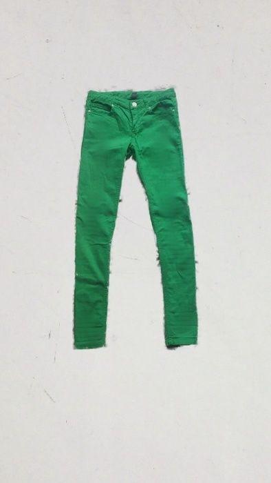 e225b5a69a3154 Zielone rurki jeansy zara z wysokim stanem | ubrania - vinted ...