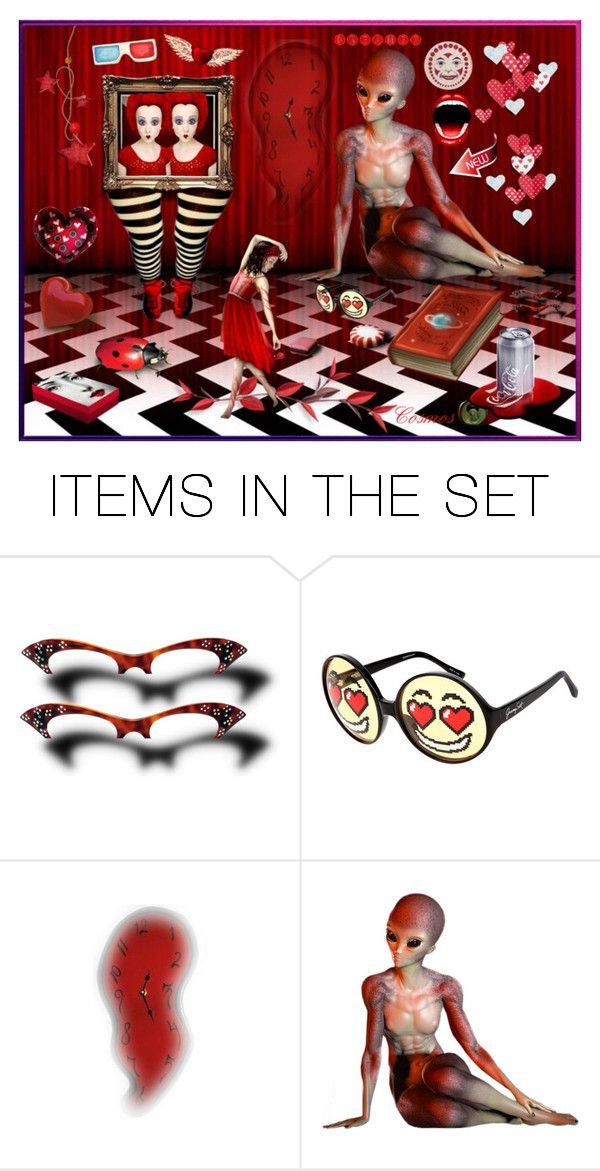 """~Surreal red world~"" by pingela-1 ❤ liked on Polyvore featuring art"