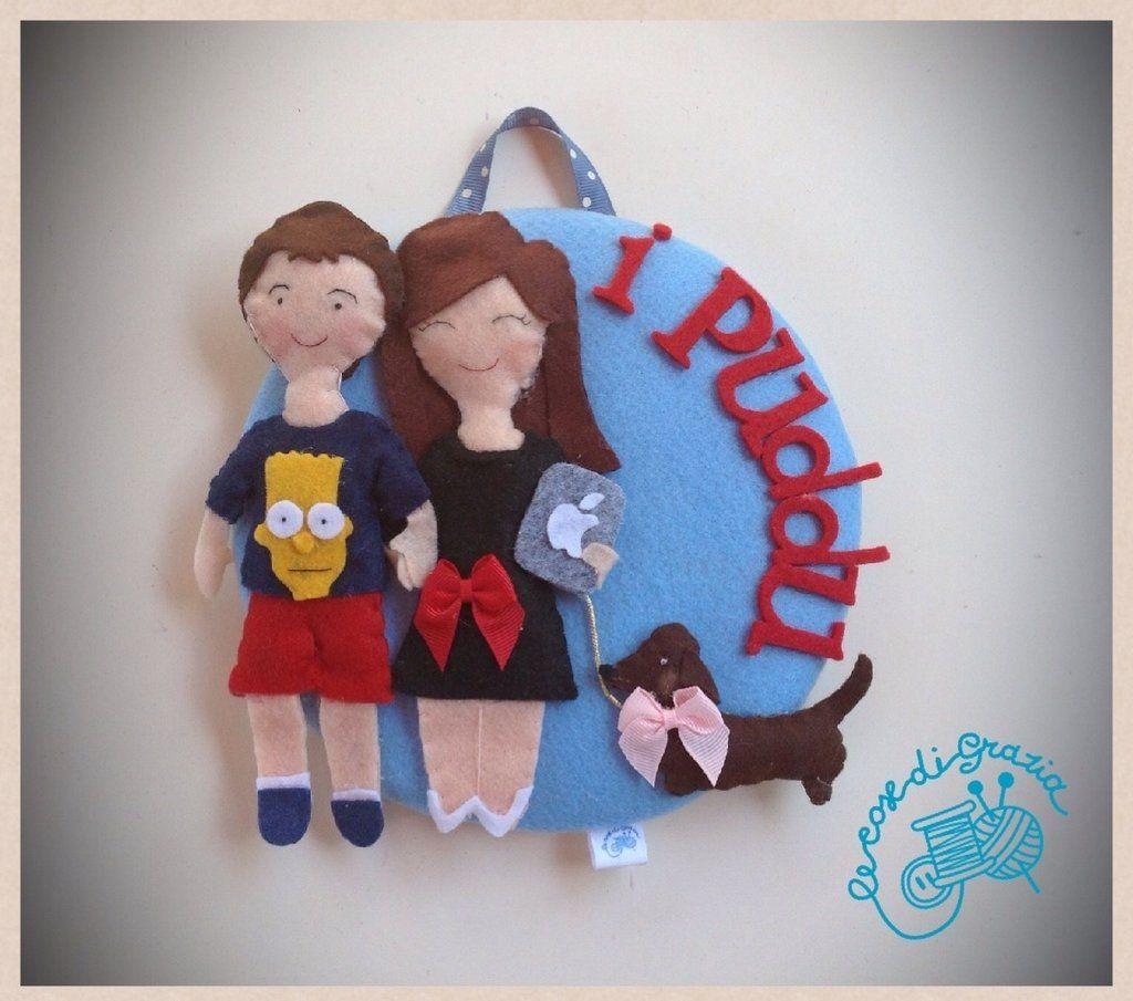 Targa porta Dolls , by Le cose di Grazia, 45,00 € su misshobby.com