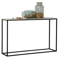 Eloquence Fredrik Burnt Steel Console Table FECSRC04BS