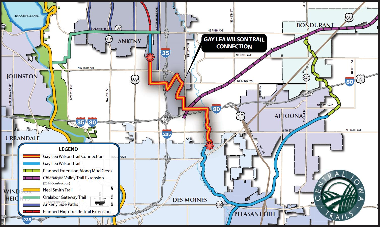 central iowa bike trails map Ia Central Iowa Trails Map Des Moines Area Bike Trails Trail central iowa bike trails map