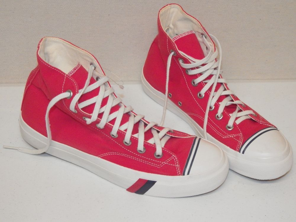 a9ca3548043c9 Vintage Pro Keds High Top Canvas Basketball Shoes, Red Mens Size ...