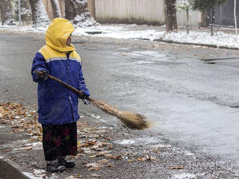 Душанбе в снегу