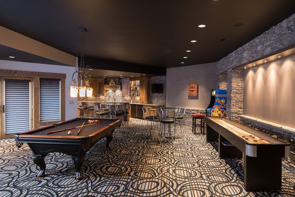 Gameroom Lighting Basement Game Room Ideas Basement Contemporary With Pool Table Painted Ce Recessed Lighting Living Room Living Room Table Game Room Basement