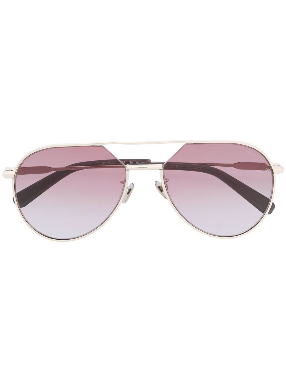 Brioni cut-off aviator sunglasses