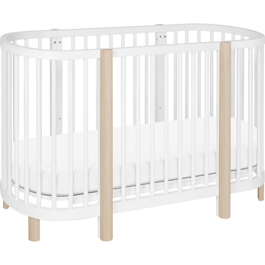 Babyletto Babyletto Hula Convertible Oval Crib And Mini With Pad