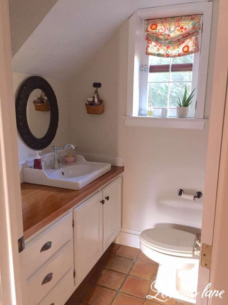 Powder Room Reveal - DIY - Wood Counter Tops using Shellac