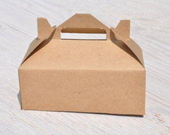 10 Large Kraft Gable Boxes 9x6x6 Brown Natural Craft Favor