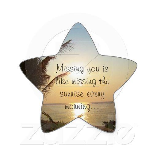 Missing You Star Sticker Zazzle Com Star Stickers Miss You
