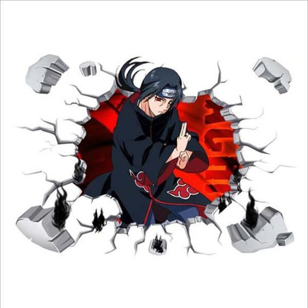 3d wall stickers naruto miyazaki anime for home decorative on wall stickers 3d id=40069