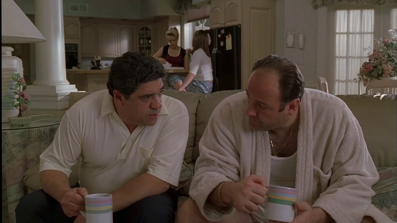 The Sopranos: Season 2, Episode 1 Guy Walks Into a Psychiatrist's Office (16 Jan. 2000) Vincent Pastore, Salvatore 'Big Pussy' Bonpensiero,  James Gandolfini , Tony Soprano