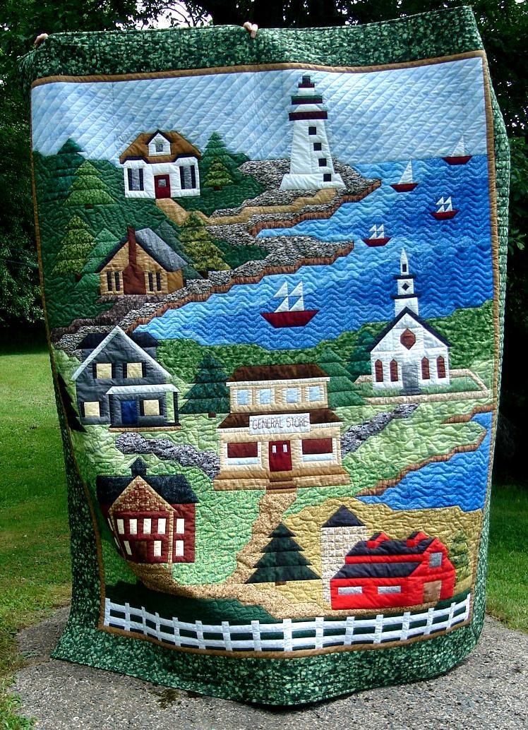 Quilts by Darlene: All Roads Lead To The Sea