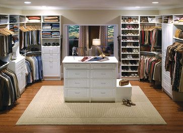 Custom Walk In Closet Organizers: White   Contemporary   Closet   Los  Angeles