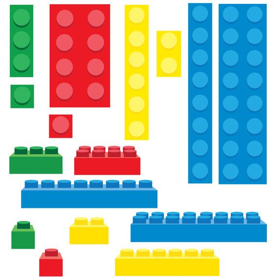 Lego Inspired Building Blocks Clip Art   PNG On Etsy, $1.00
