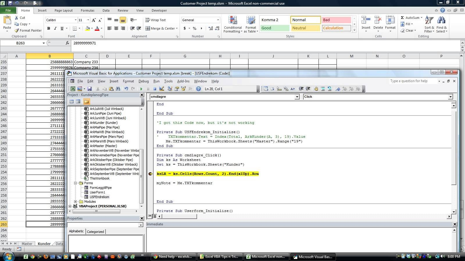 Excel Vba Tips N Tricks 42 Put Info On Userform And Save It To The Hidde