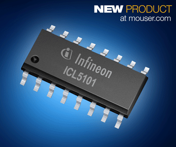 Infineon ICL5101 Resonant Controller IC with 650V High-Side Driver Now at Mouser