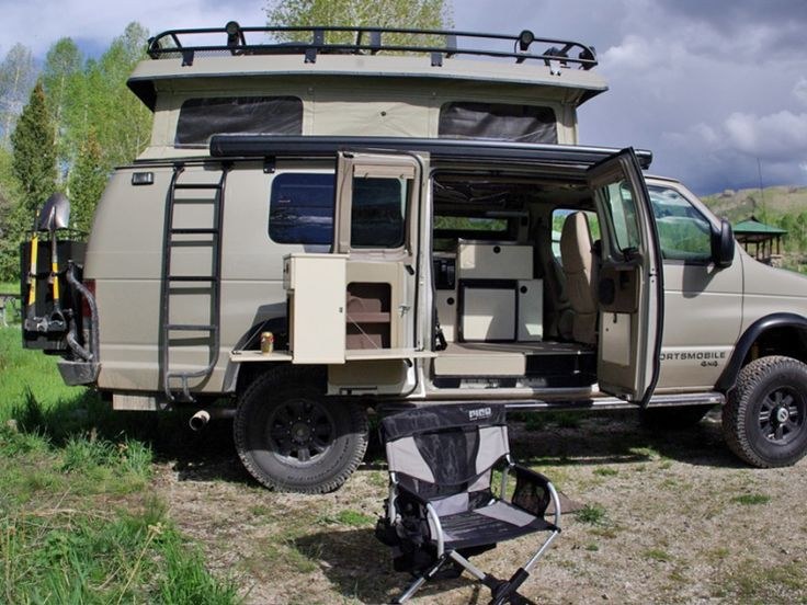 Aluminum Off Road Roof Rack For A Ford Econoline Van With Sportsmobile Conversion