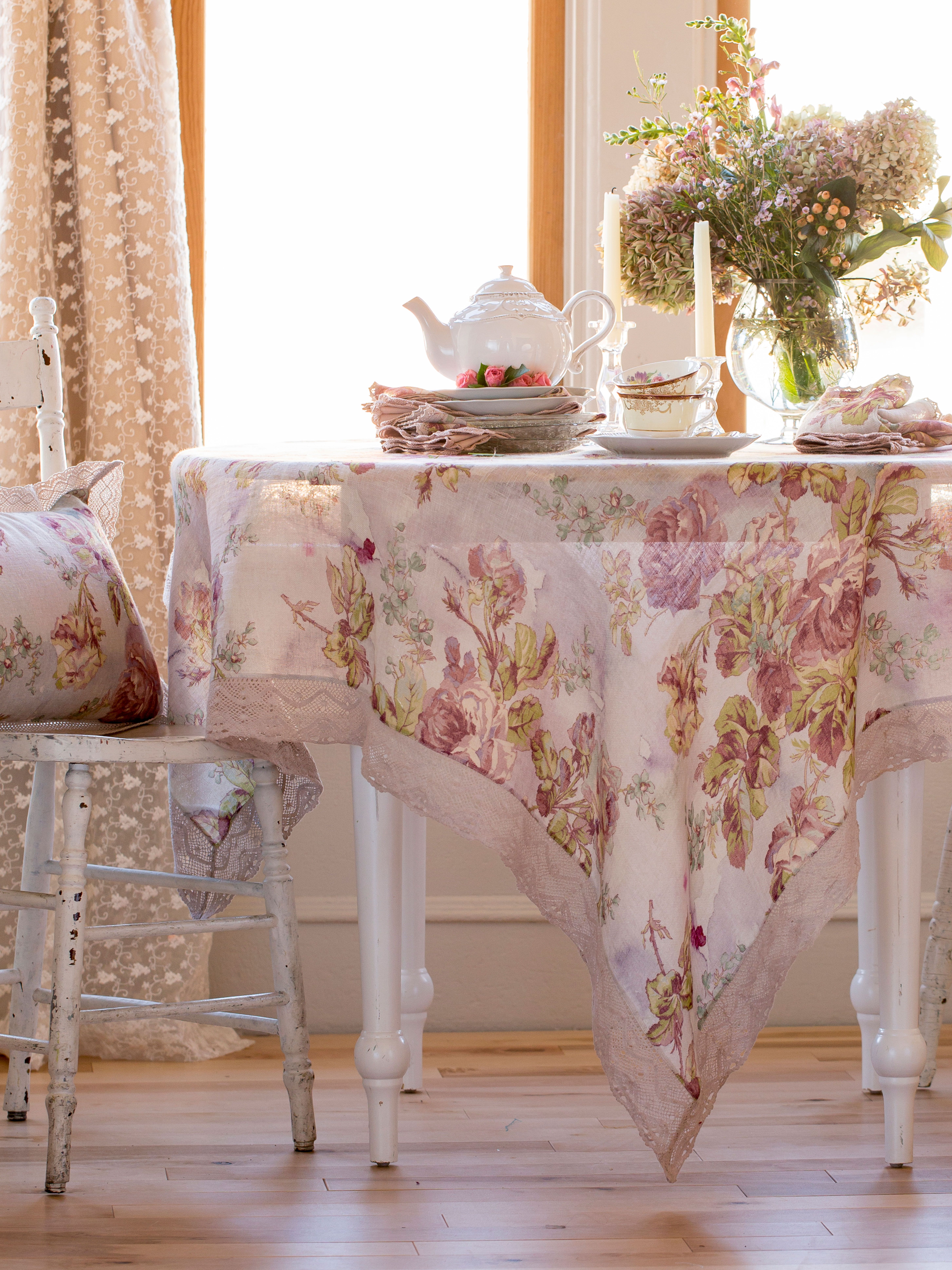 Badezimmer Set Sale Victorian Rose Linen Tablecloth Linens Kitchen Tablecloths