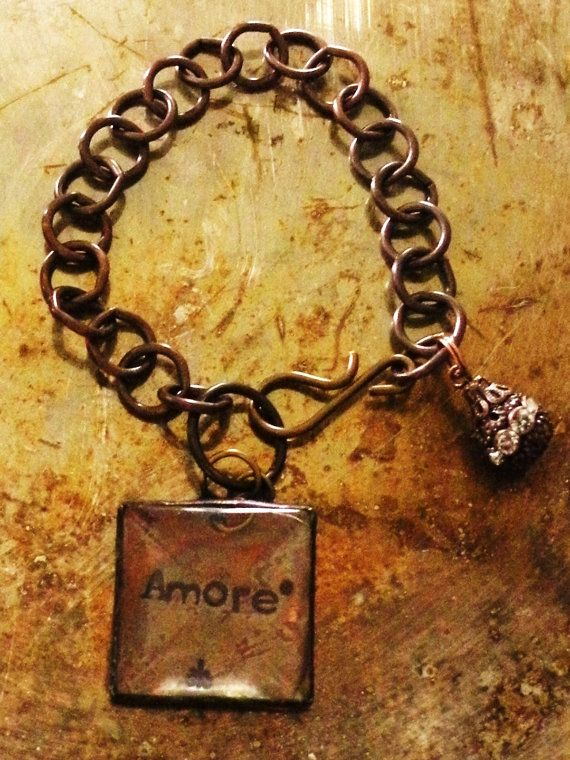 Magnifying Loupe Charm Bracelet. Custom by RaiseMyGlass on Etsy, $35.00