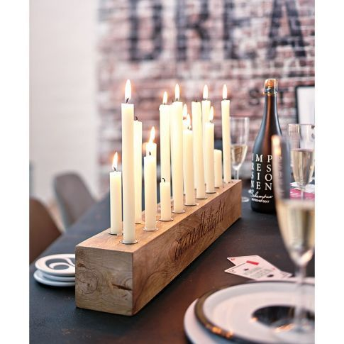Kerzenhalter, eckig , Mango-Holz Katalogbild | WÜNSCHE UND WILL ...