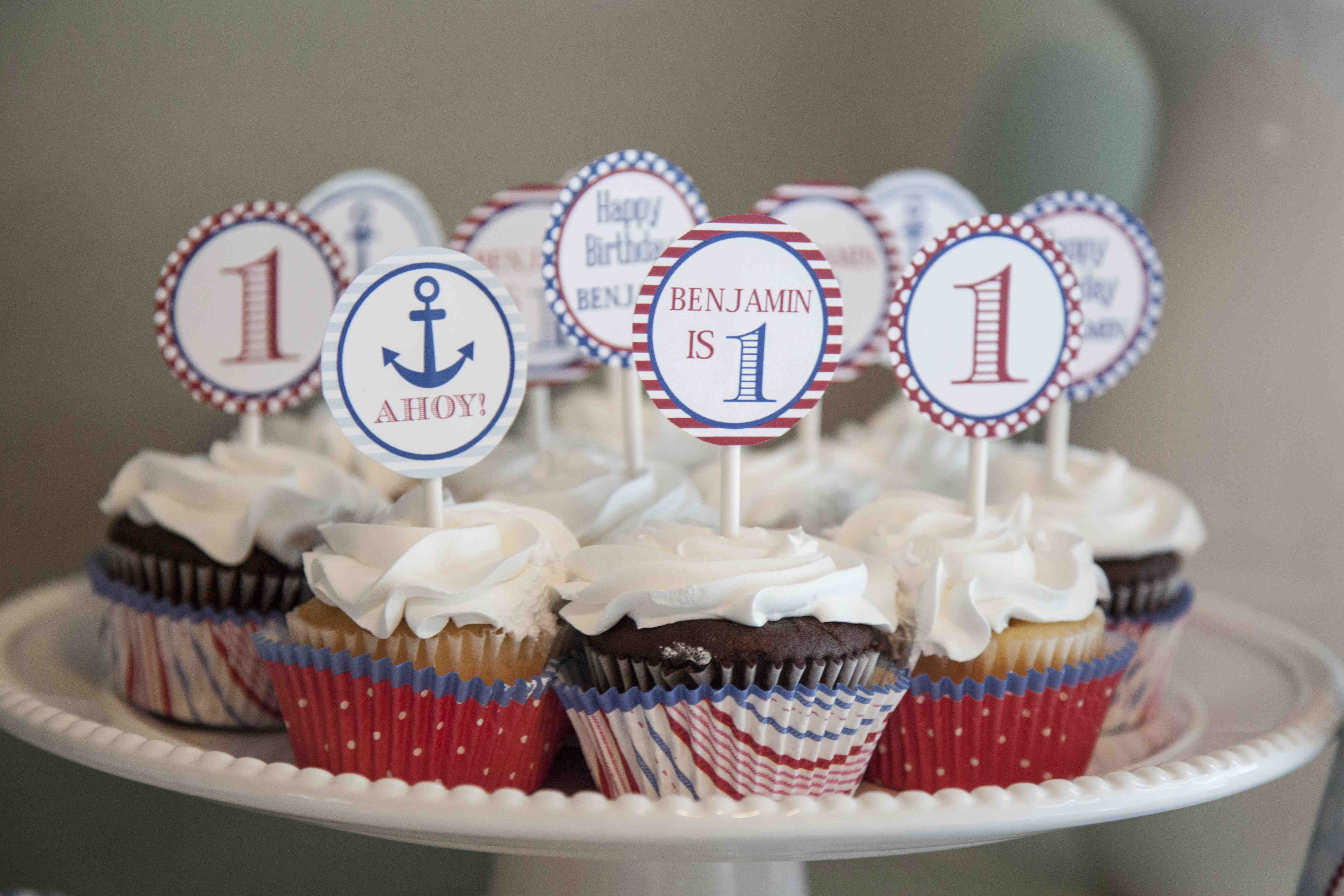 We Heart Parties: Party Information - Ships Ahoy! Nautical First Birthday