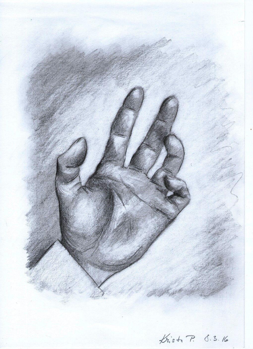 Hand, pencil, artist Kristýna Pavluvčíková.