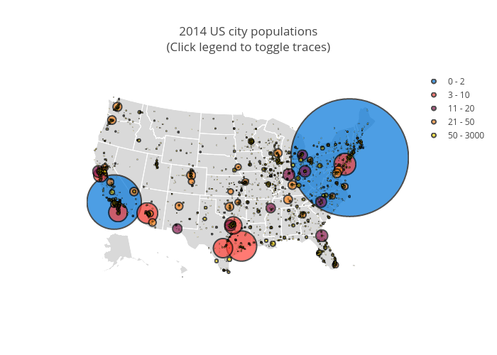 Geography: 2014 U S  City Populations   Analyze and visualize data