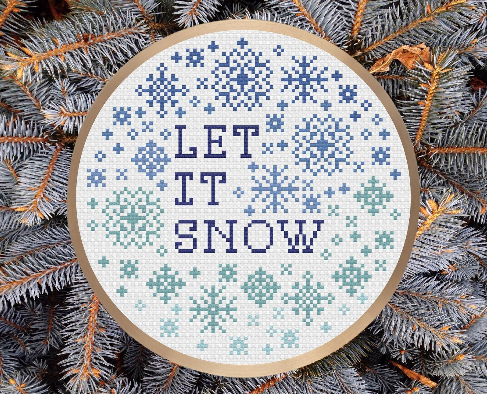 Let It Snow! Counted Cross Stitch Pattern