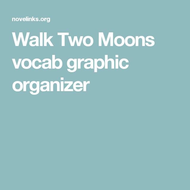 Walk Two Moon Vocab Graphic Organizer Essay Discussion Question Theme