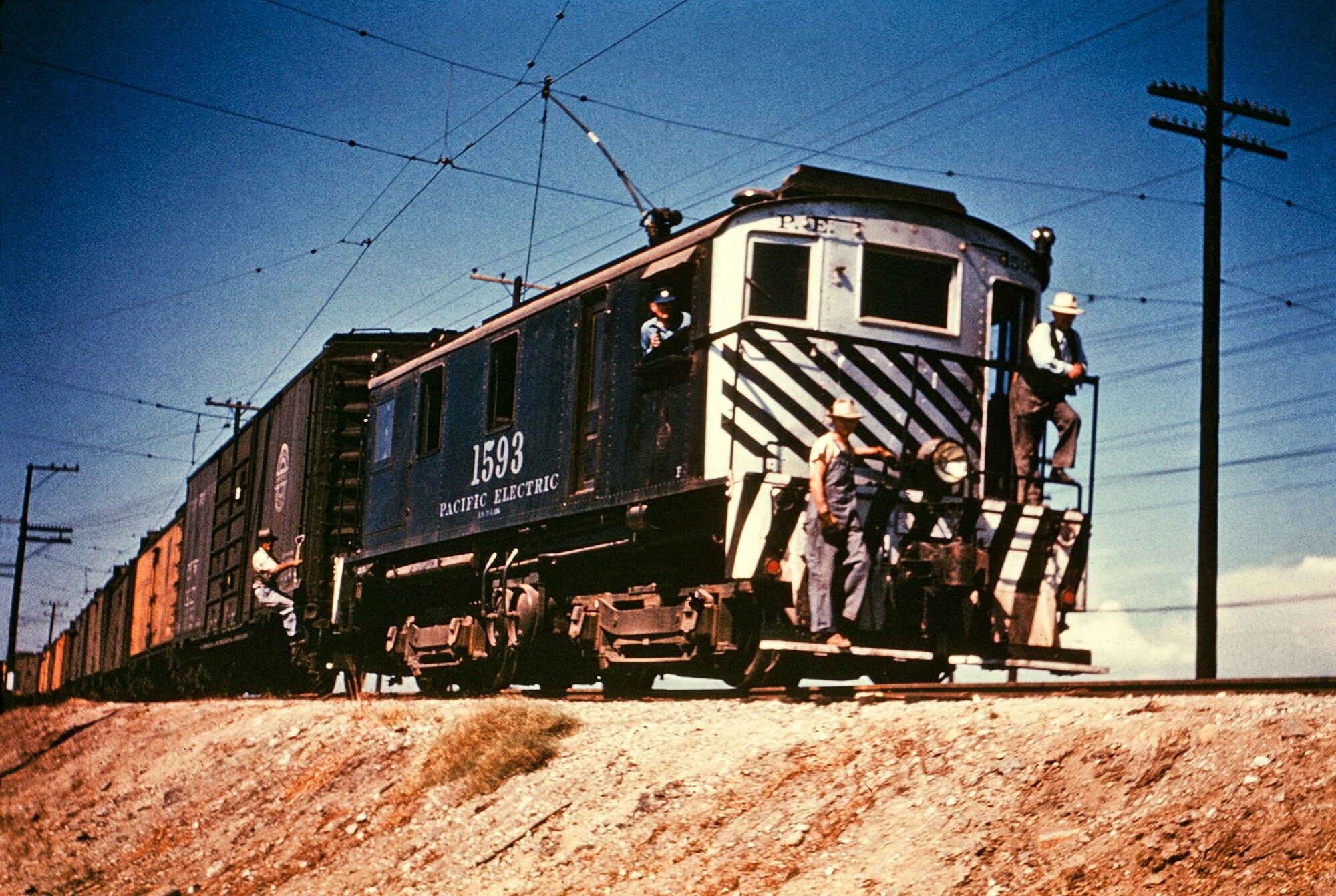 Pacific Electric Freight Red Car Electric Train Cities In Los Angeles