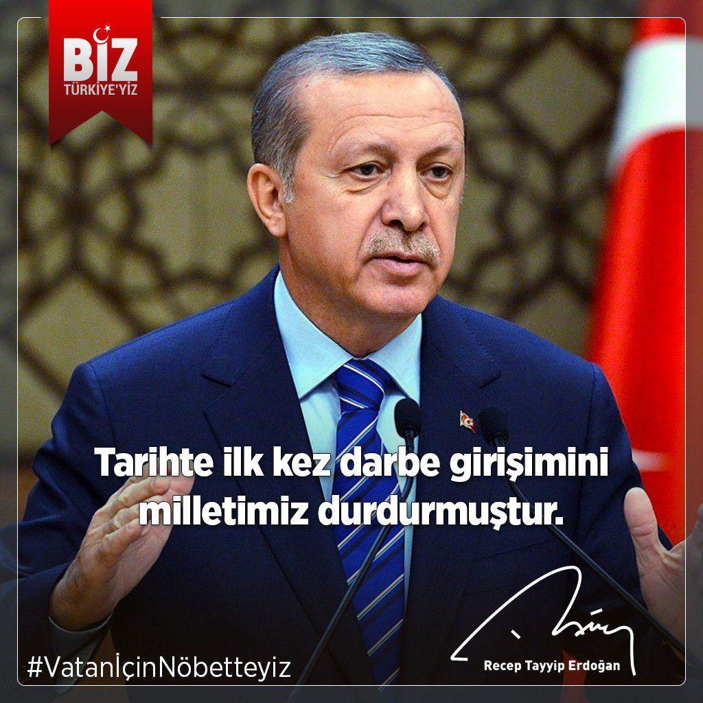 """RT @tugvaTR: .@RT_Erdogan: """"Tarihte ilk kez darbe girişimini milletimiz durdurmuştur."""" https://t.co/Nh4xHYPNqf"""