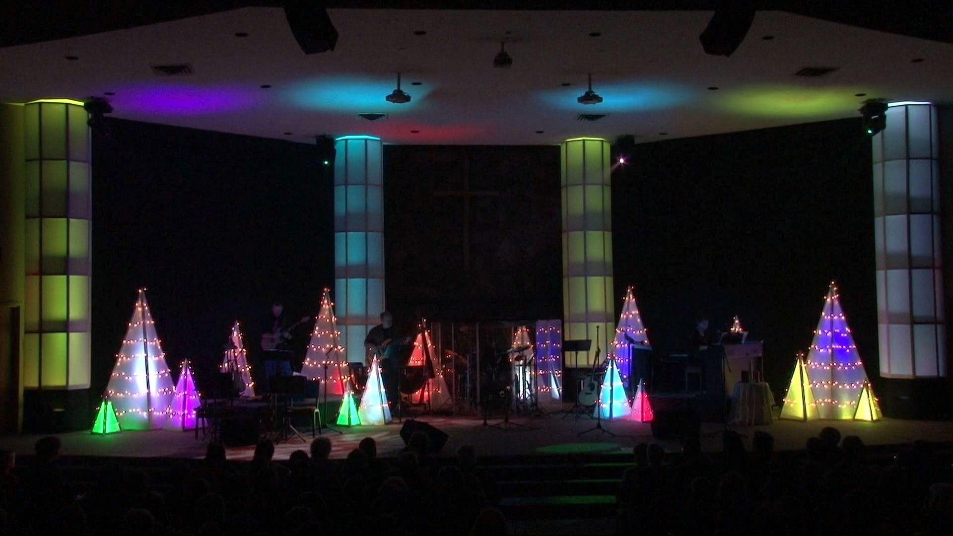 Christmas decoration ideas for a church - Christmas Stage Set Ideas Christmas Tri Church Stage Design Ideas