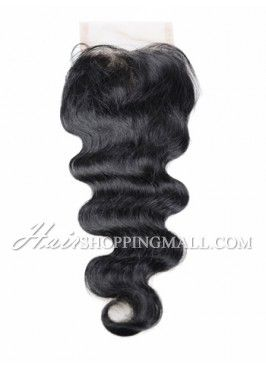 """#1 Lace Closure Indian Remy Hair 4X4"""" Body Wave [CI05]"""