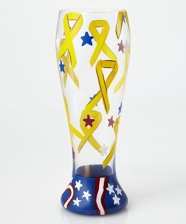 Loving this Yellow Ribbon Pilsner Glass on #zulily! #zulilyfinds