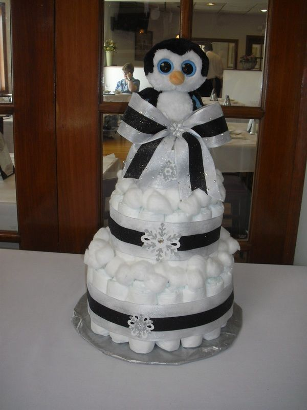 Babyshower · Penguin Diaper Cake
