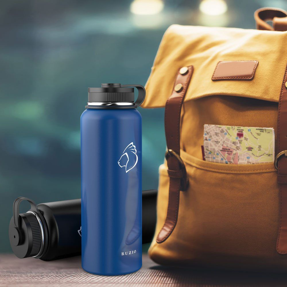 Buzio Double Wall Stainless Steel Sports Water Bottle
